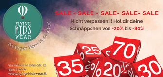 Sale bei Flying KidsWear in Lana