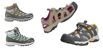 Bergschuhe um 49 € - Outdoor Sandalen um 39 €