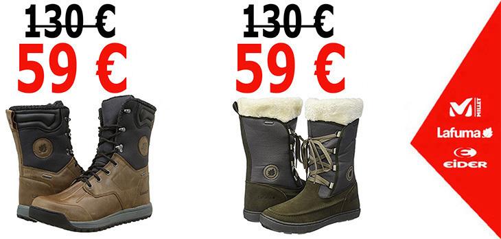 Scarpe invernali per donna e uomo a 59 €