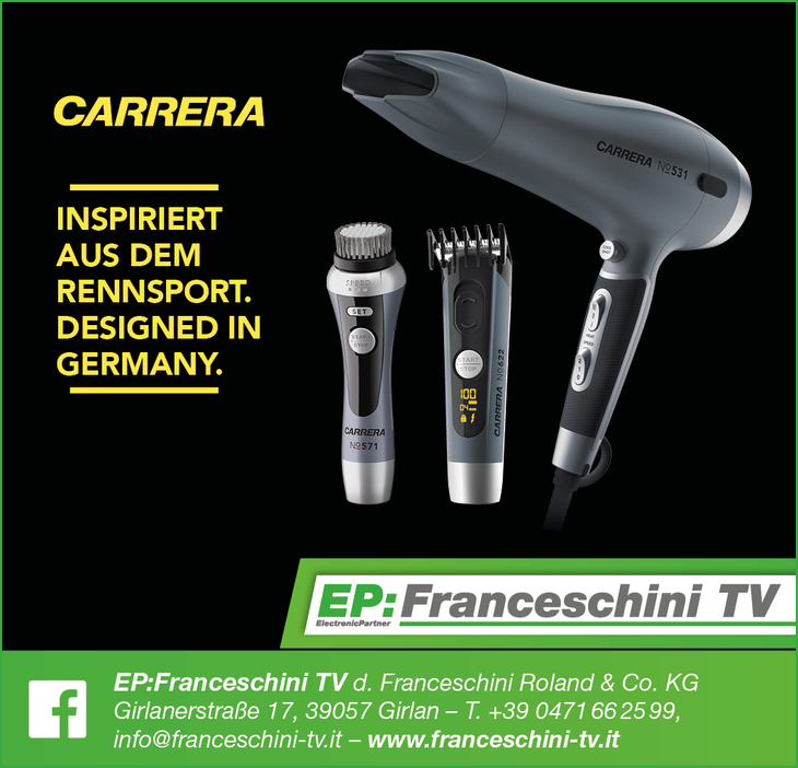 Carrera: un'esigenza - un design.