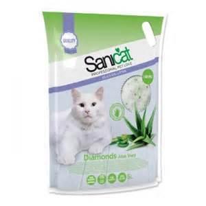 SANICAT Lettiera per gatti al silicio, Aloe vera, 5 lt., - 12% !