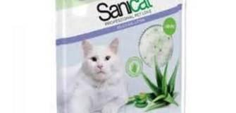 SANICAT Katzenstreu Silizium, Aloe vera, 5 lt., - 12% !