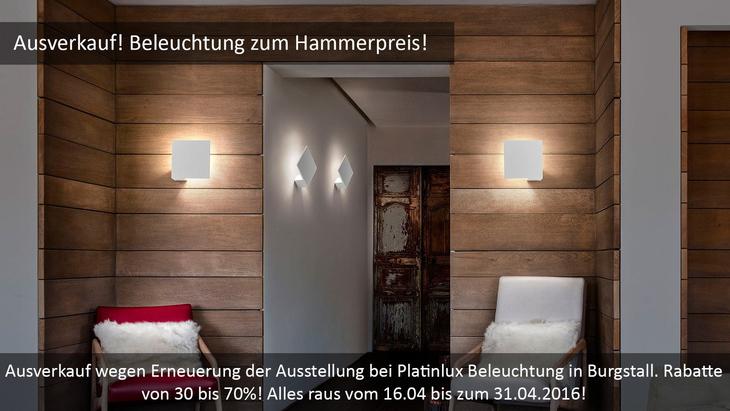 Ausverkauf! Beleuchtung zum Spezial-Hammerpreis!