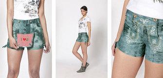 Kurze Lederhose für Damen um nur 49,95 €