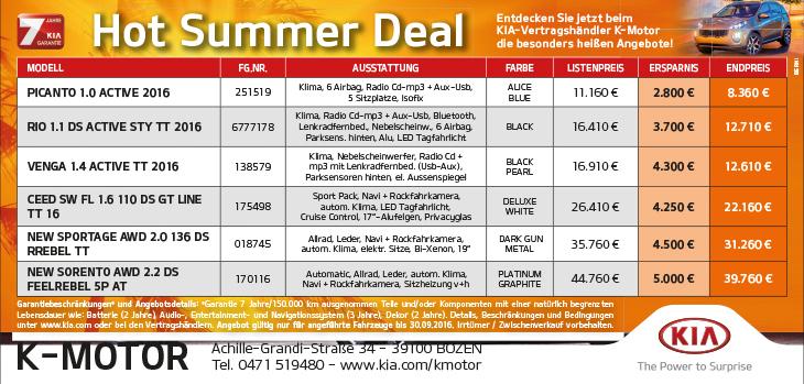 KIA Hot Summer Deal