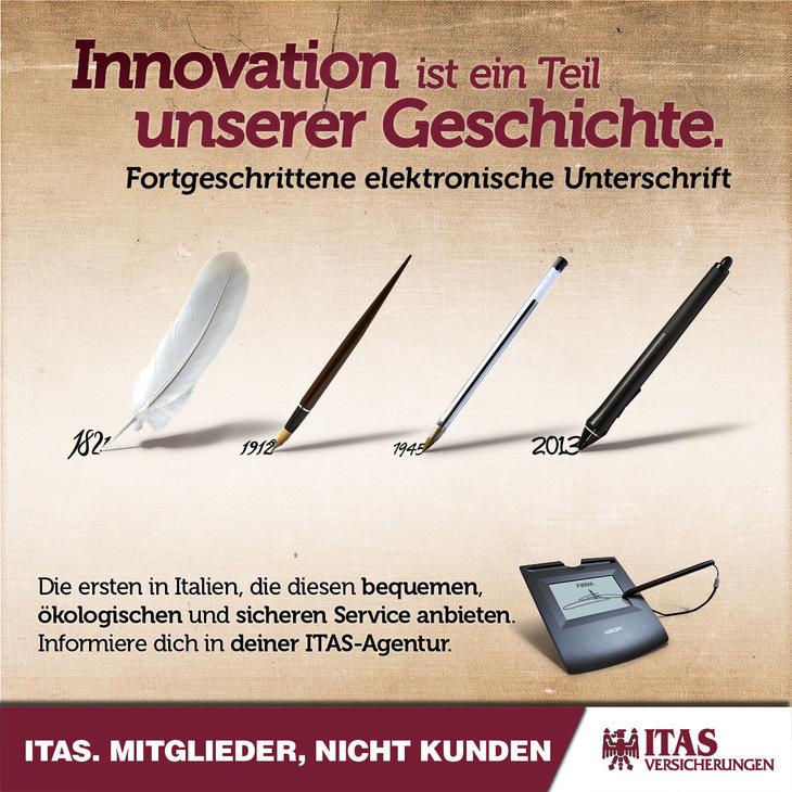 ITAS bietet Ihnen die digitale Unterschrift als innovativen Service an!