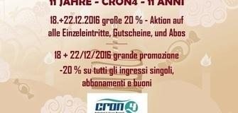 11 Jahre Cron4 - 20 % Sonder-Aktion