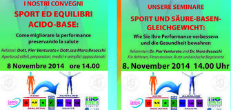"Covegno ""Sport ed equilibri acido-base"""