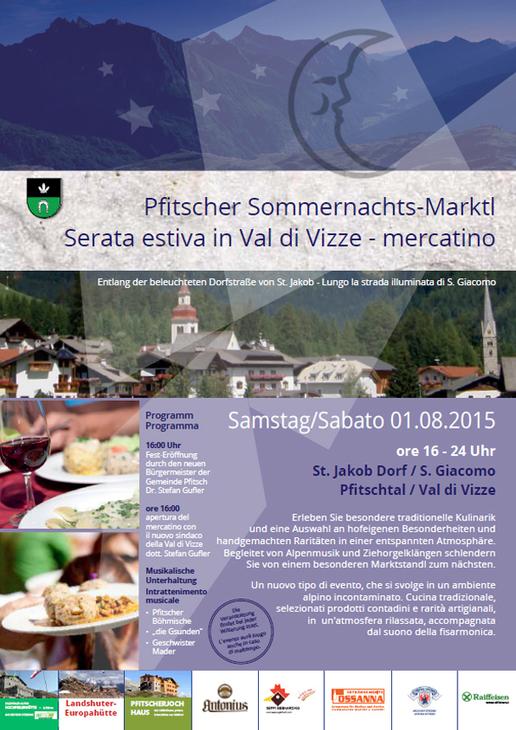 Serata estiva in Val di Vizze - mercatino