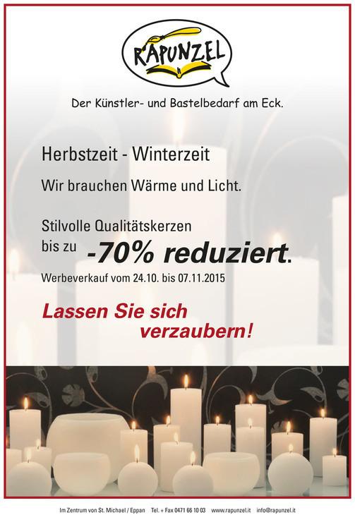 Vendita promozionale candele
