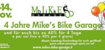 4 Jahre Mike's Bike Garage, 4 Tage bis zu 40% bei Eurem Einkauf!!