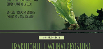 -------------JUBILÄUM------------- Traditionelle Weinverkostung am 18. und 19. März