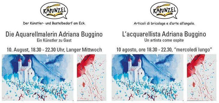 L'acquarellista Adriana Buggino - Un artista come ospite