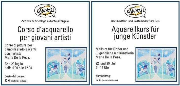 Corso d'acquarello per giovani artisti