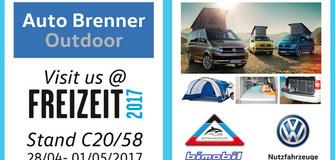 Freizeitmesse 2017 - entdecke unsere VW-Outdoor-Freizeitmobile!