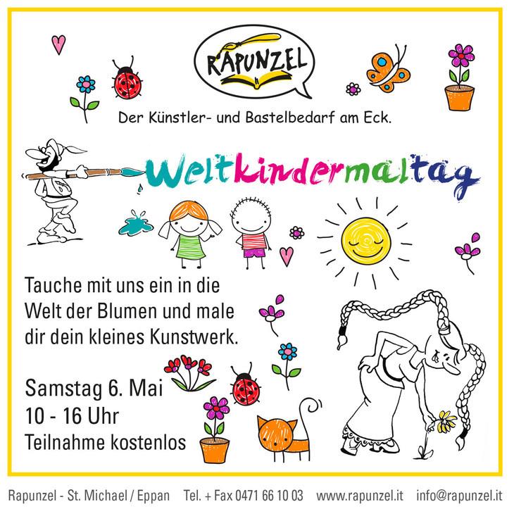 Weltkindermaltag am 06.Mai bei Rapunzel - Komm auch du vorbei!