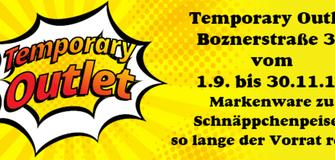 Temporary Outlet Boznerstraße 33