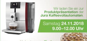 presentazione macchine caffé automatiche JURA