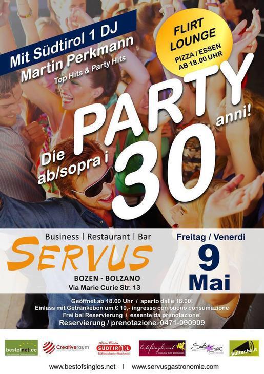 Party Ü30 al Servus