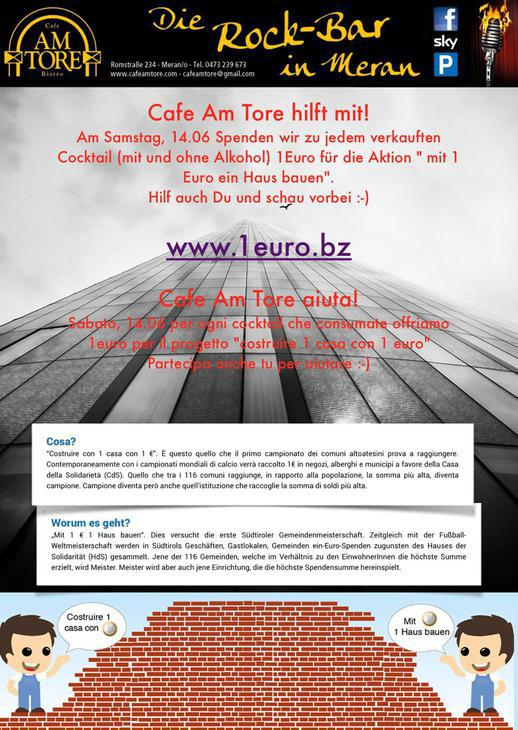 con 1 euro costruire 1 casa, Am Tore aiuta!