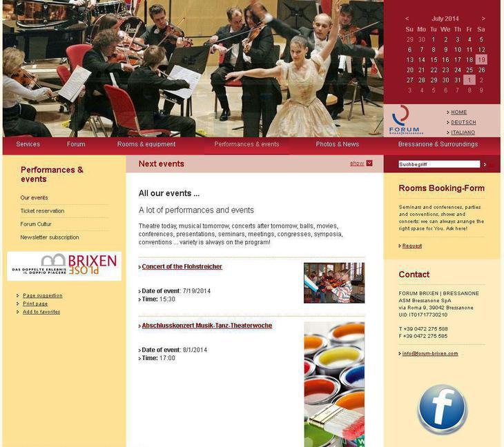 Siete già informati sugli eventi che si svolgono qui al Forum di Bressanone?
