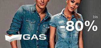 von -30% bis -80%!!! Totalausverkauf beim Gas Jeans Store Lana