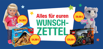 Bei Pfiff Toys werden Weihnachtswünsche wahr!