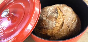 Brot im Topf gebacken