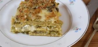 Neues Rezept - Lasagne mit Polentateigblatten und Wirsing