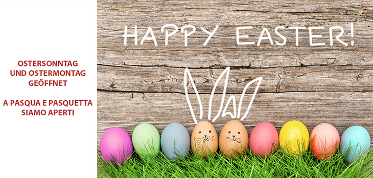 A Pasqua e Pasquetta siamo aperti