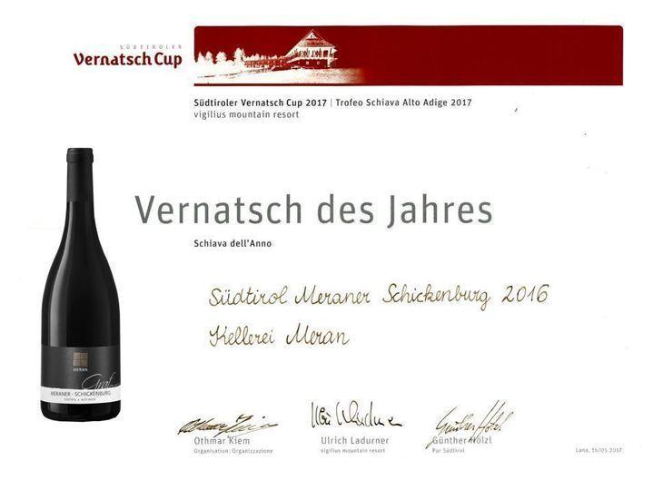"Schiava dell'anno: Meranese Schickenburg ""Graf"" 2016"