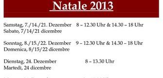 Öffnungszeiten im Advent