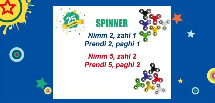 Amplia la tua gamma di Spinner!