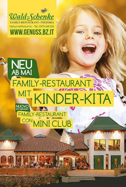 Novità: Family-Restaurant con MINI CLUB