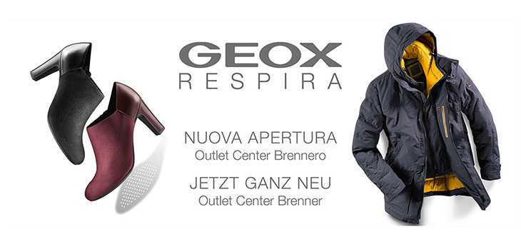 GEOX adesso NUOVO all'Outlet Center Brennero