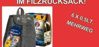 Oktoberfestbier im Filzrucksack!