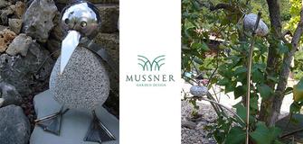 Uccelli in granito e acciaio per il giardino!