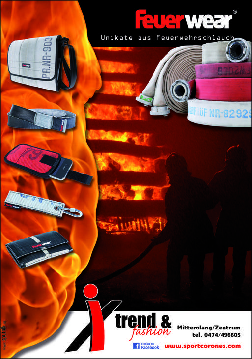 Feuerwear - Pezzi unici da manichetta antincendio riciclata
