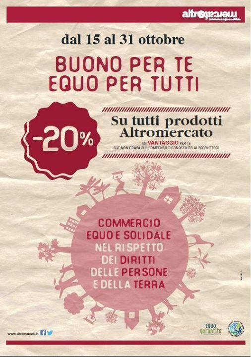 20% su tutti prodotti Altromercato