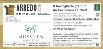 Fiera ARREDO 2016 11-12-13 e 19-20 marzo 2016 Bolzano