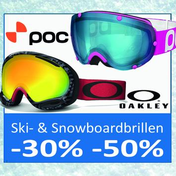 Maschere sci e snowboard dei marchi Poc ed Oakley ridotti fino al -50%