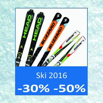 Skonti fino al -50% sugli sci della stagione attuale