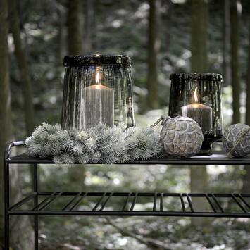 Decorazione invernale candela