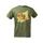 T-Shirt verde oliva con Gufo e Tre Cime EU.M.15.010