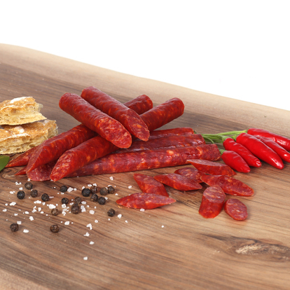 Salami Sticks 6er Pack. pikant