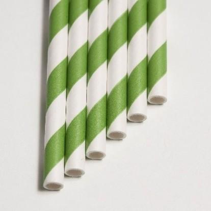 Papier Trinkhalme grün