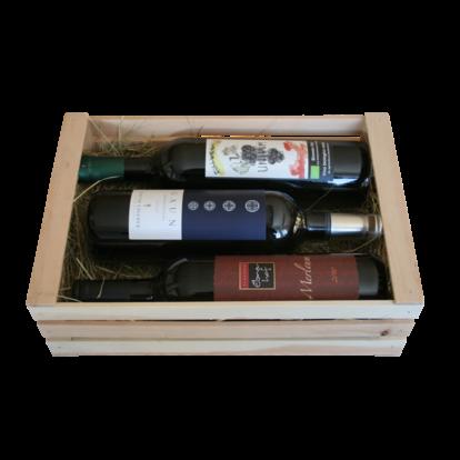 """cassetta regalo bio """"vino per buongustai"""""""